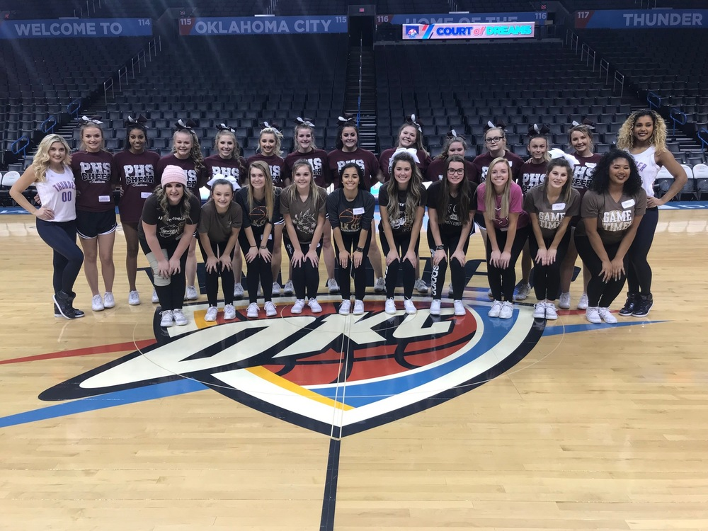 PHS Cheerleaders perform with OKC Thunder Girls
