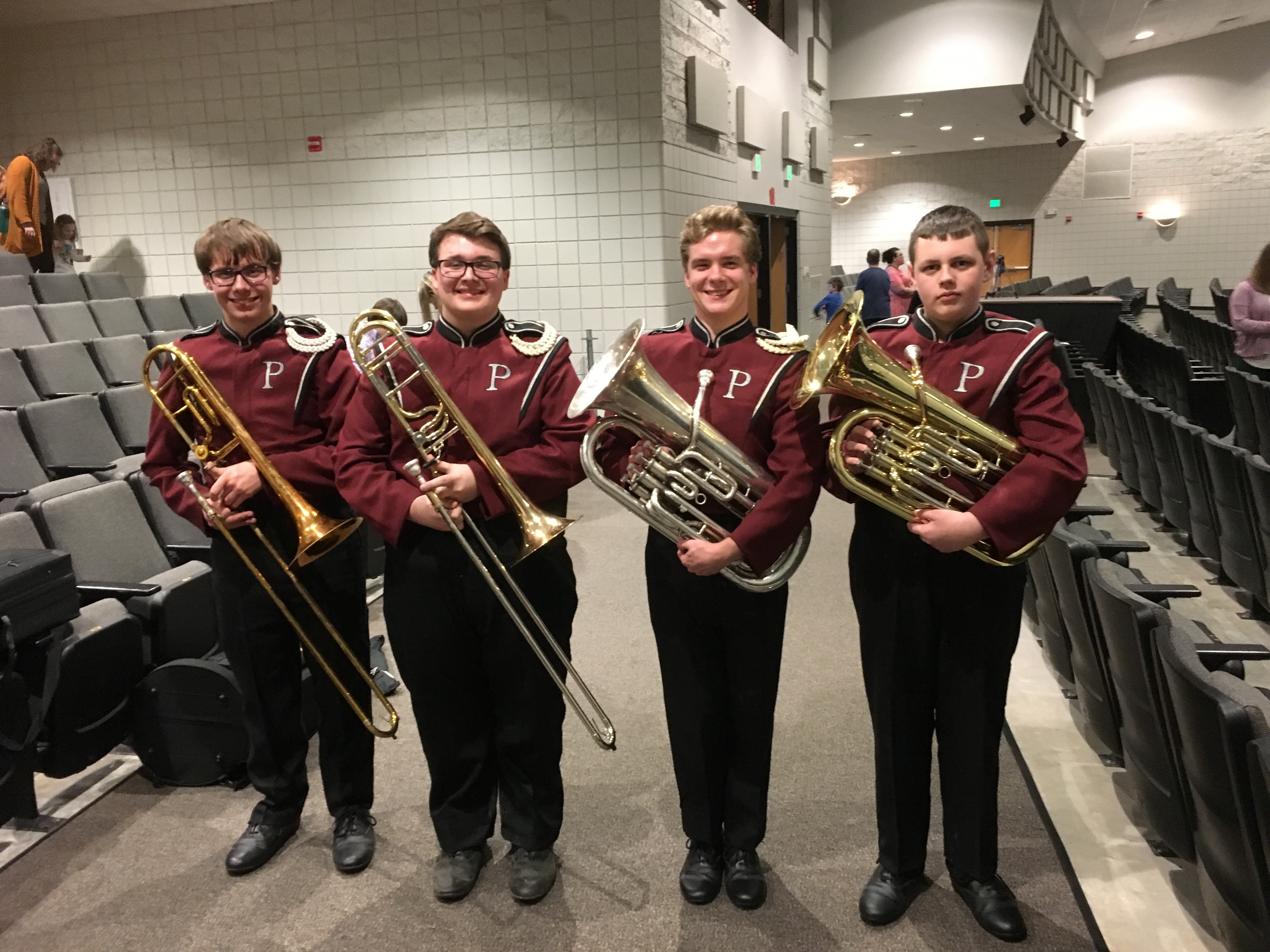 Members of the EDBDA  All-District Honor Band